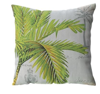 indoor outdoor palm print pillow