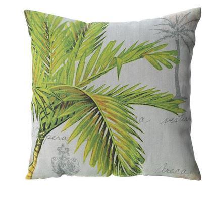 indoor outdoor palm print pillow