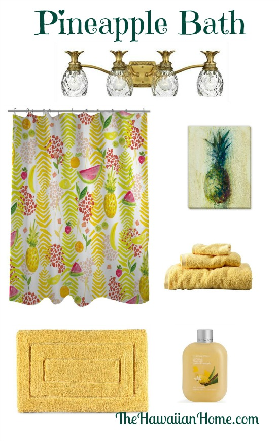Fruity Pineapple Bathroom Design