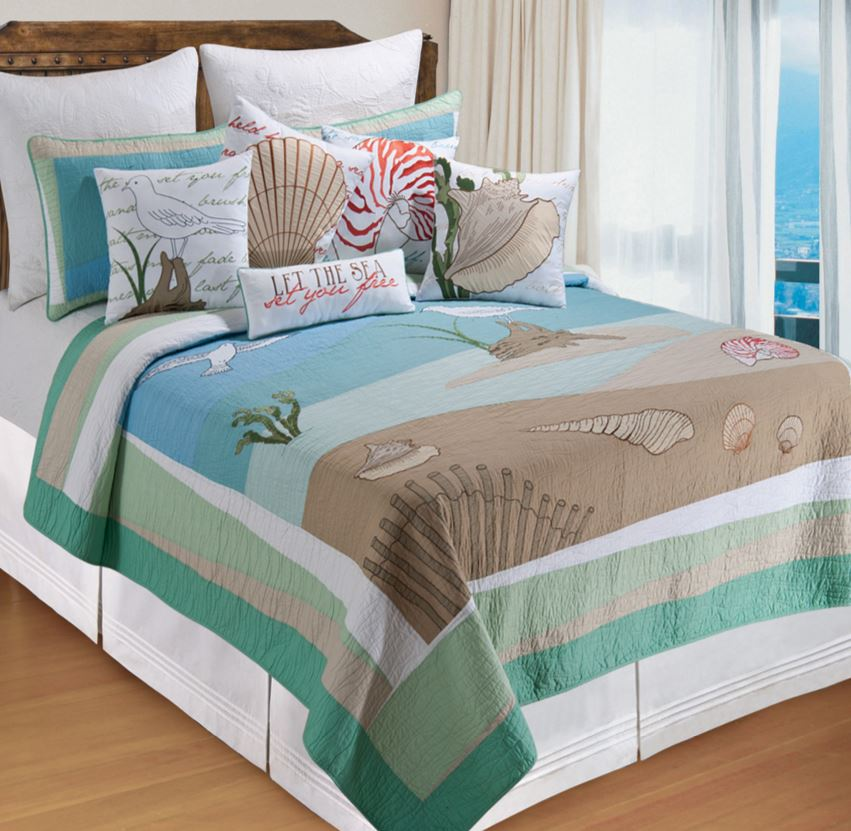 beach scene bedding set