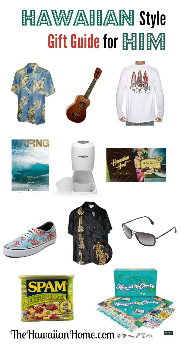 hawaiian style gift guide for him