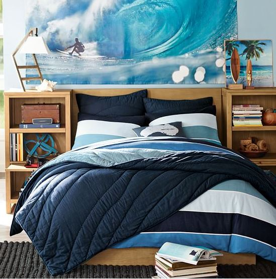 girls surfer bedding