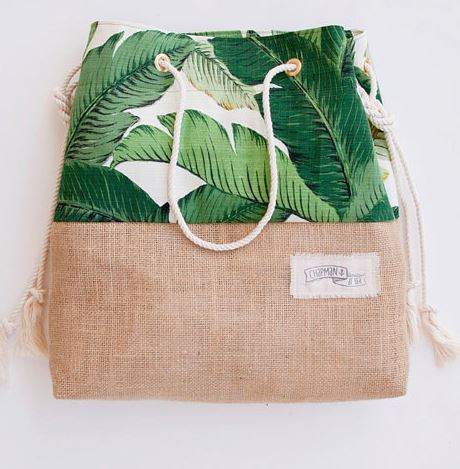 green banana leaf bag