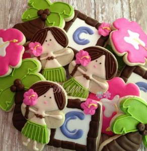 hula girl cookies