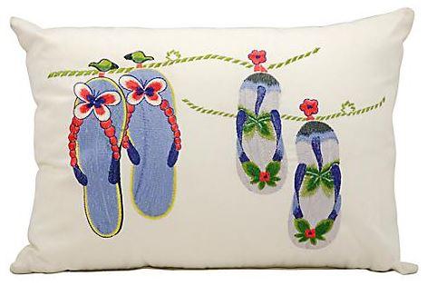 indoor outdoor flip flops pillow