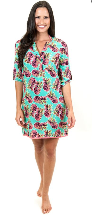 pineapple tunic dress