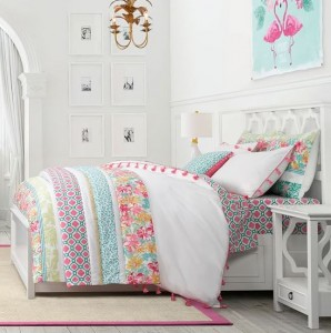 patchwork tropical quilt