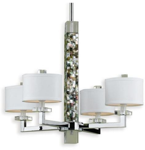 modern abalone shell chandelier