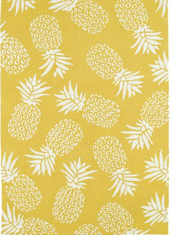 gold pineapple rug on sale