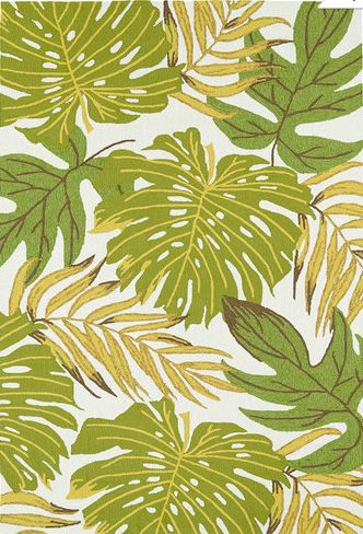 tropical leaves rug