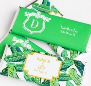 hawaiian style wedding chocolates
