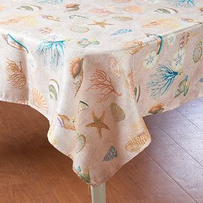 seashell tablecloth on sale