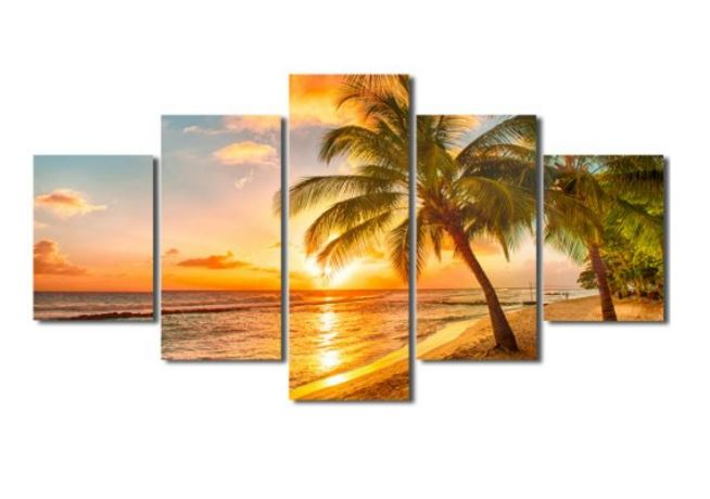 palm tree canvas art