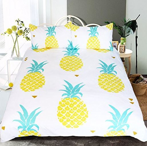large print pineapple bedding