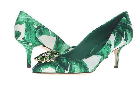 banana leaf heels