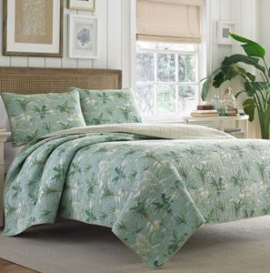 tommy bahama green palm tree quilt