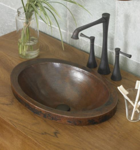 hamered copper sink