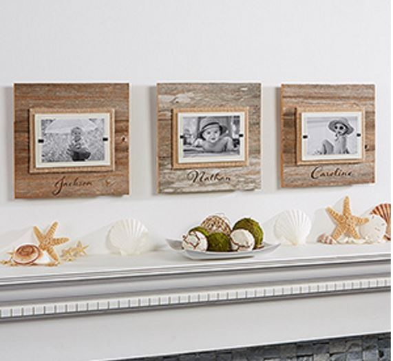 personalized beachwood frames