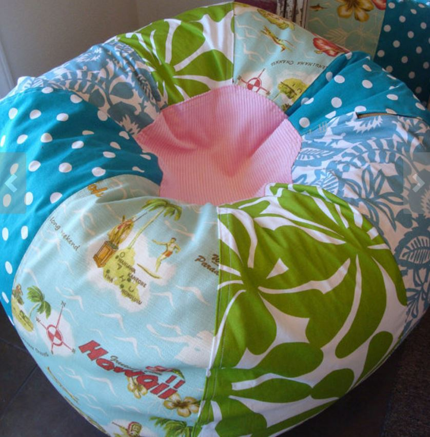 hawaiian print bean bag