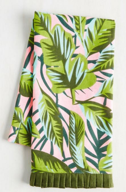 tropical tea towel