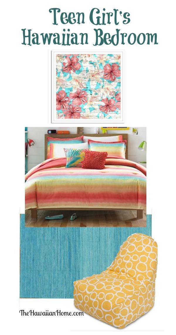 teen-girls-hawaiian-bedroom