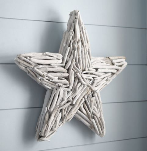 whitewashed driftwood star