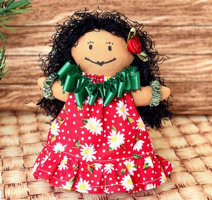 hawaiian doll ornament