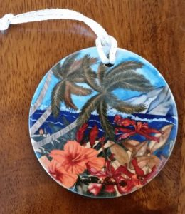 porcelain hawaiian ornaments