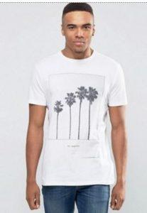 men's tropical palm tree t-shirt