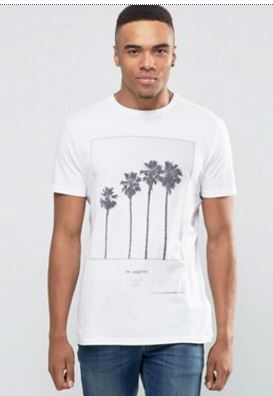 men's tropical palm tree t-shirt