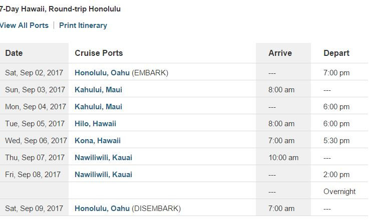 black friday hawaii cruise sale
