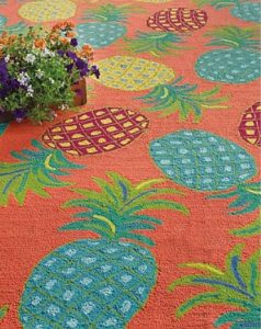 colorful pineapple rug