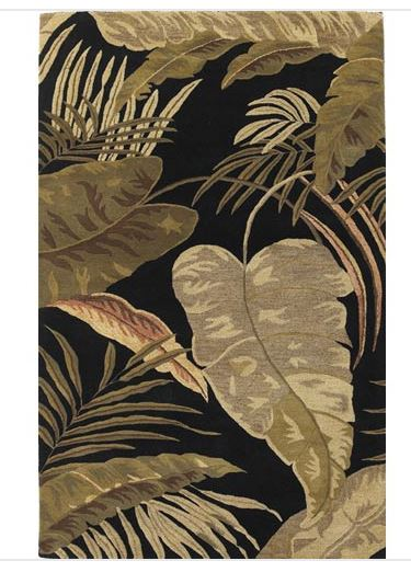 tropical rainforest rug