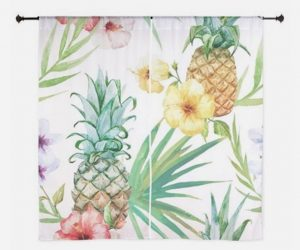 vintage hawaiian shower curtain