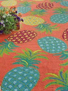 pineapple rug on sale