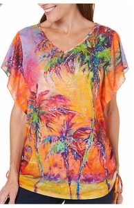 women's palm tree top