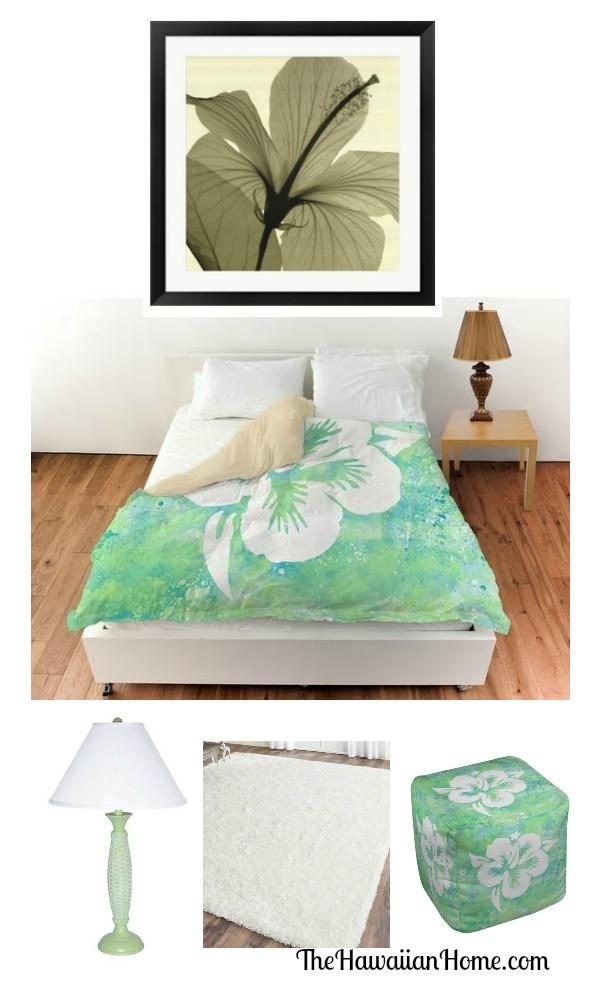 hibiscus theme bedroom