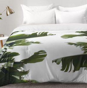modern palm tree comforter