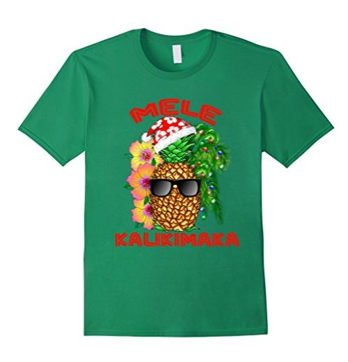 hawaiian christmas t-shirt