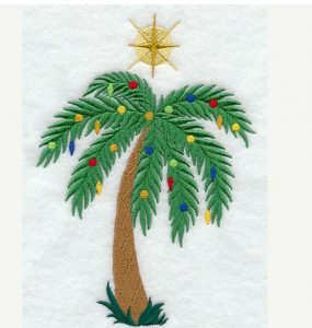christmas palm tree towel