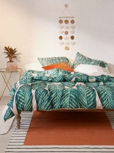 tropical leaves comforter