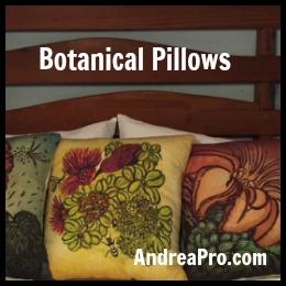 botanical tropical pillows