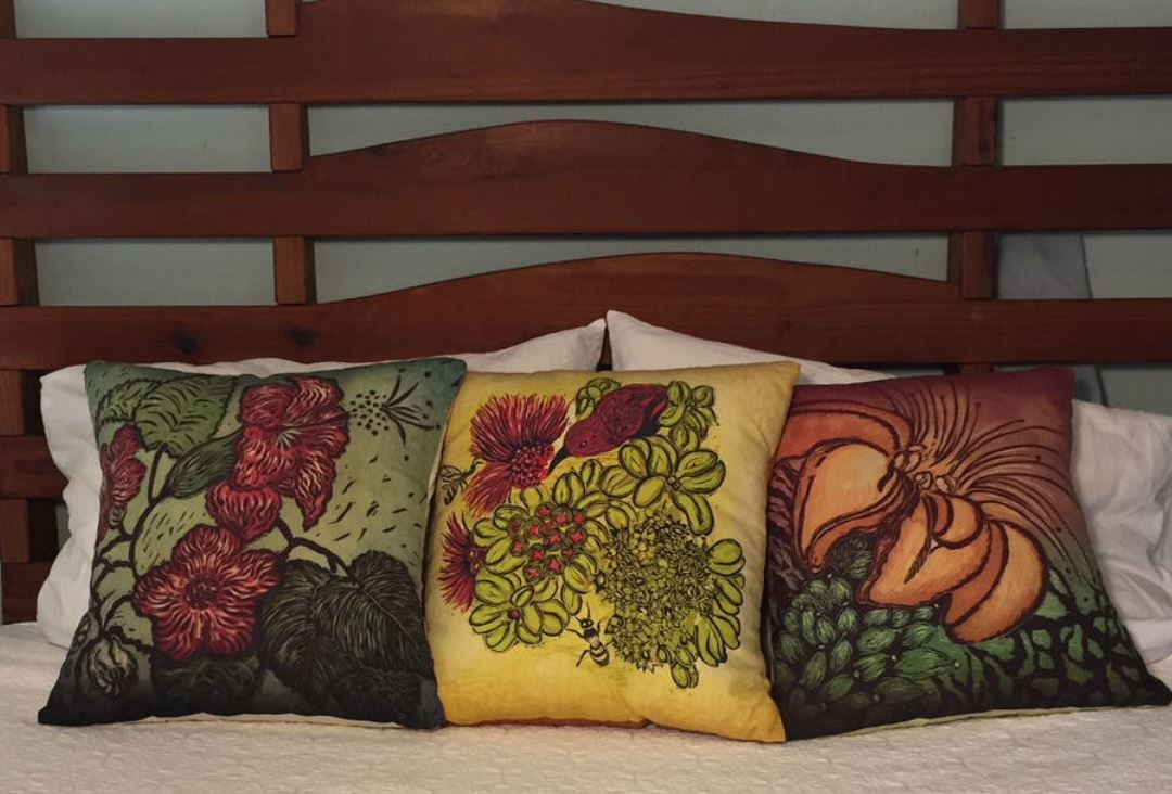 andrea pro beautiful botanical floral pillows