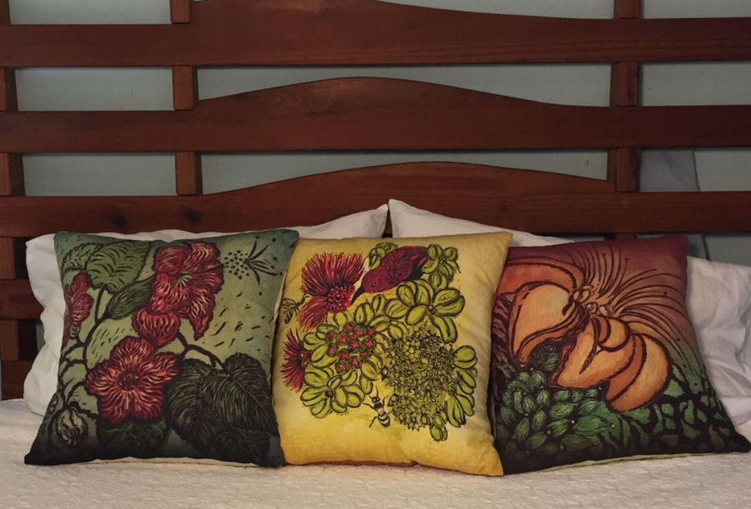 andrea pro beautiful botanical floral pillows