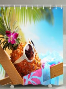 Hawaiian pineapple shower curtain