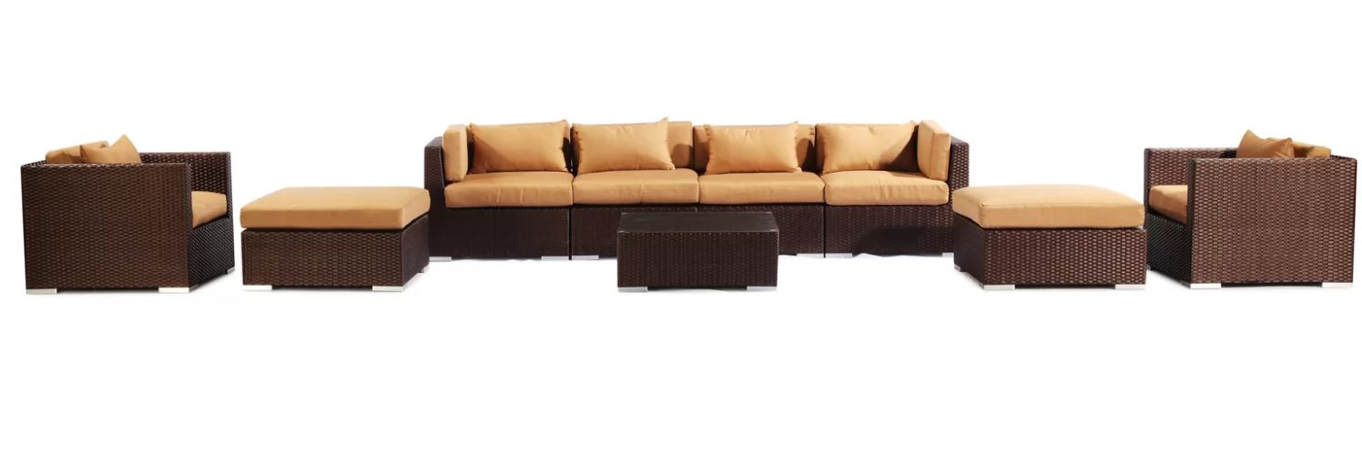 9 Piece Kauai Sectional Sofa