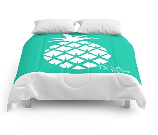 graphic print pineapple comforter