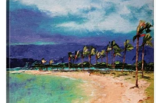 Hawaiian beach art