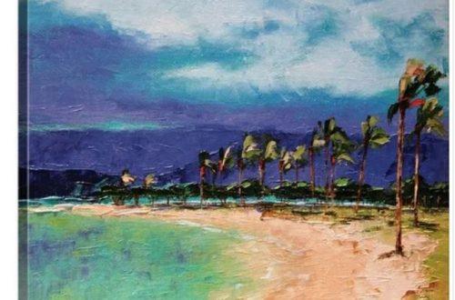 Hawaiian beach art