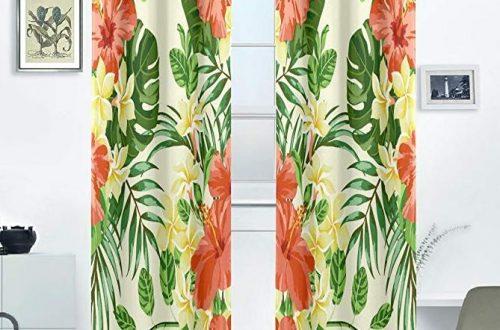 hawaiian curtains